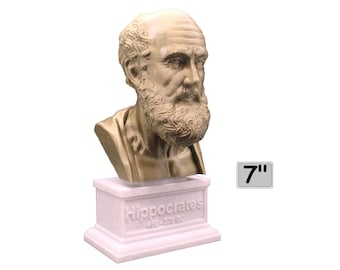 Hippocrates of Kos Greek Physician Father of Medicine 7 inch Bust