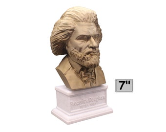 Frederick Douglass American Social Reformer, Abolitionist, Orator, Writer, and Statesman 7 inch Bust