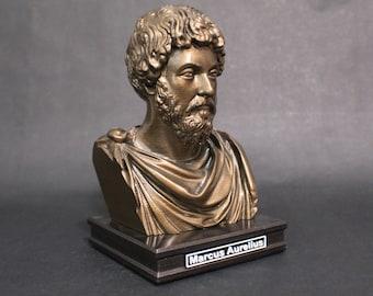 Marcus Aurelius 8 inch Premium Bust Solid Hand Finished Original Dated Sculpture
