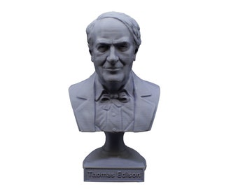 Thomas Edison Famous American Inventor and Businessman 5 Inch Bust