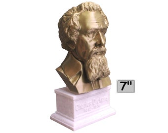 Charles Dickens English Writer and Social Critic 7 inch Bust