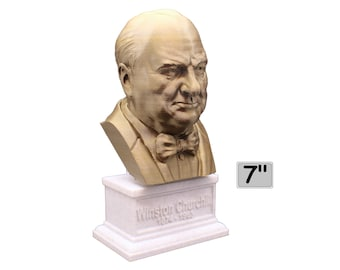 Winston Churchill British Statesman, Army Officer, Writer, and Prime Minister 7 inch Bust