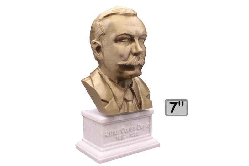 Arthur Conan Doyle British Writer 7 inch 3D Printed Bust image 0