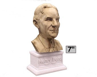 Henry Ford American Industrialist and Business Magnate 7 inch Bust