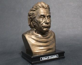 Albert Einstein 8 inch Premium Bust Solid Hand Finished Original Dated Sculpture