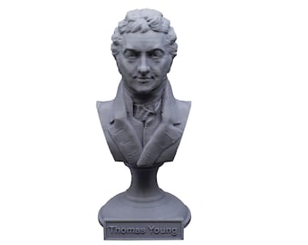 Thomas Young Famous British Physicist, Mathematician, and Mechanical Engineer 5 Inch Bust