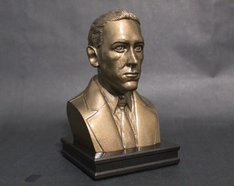 HP Lovecraft 8 inch Premium Bust Solid Original Dated Sculpture