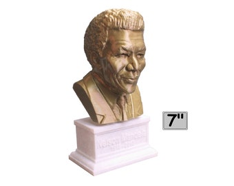 Nelson Mandela South African Anti-Apartheid Revolutionary 7 inch Bust