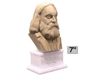 Dmitri Mendeleev Famous Russian Chemist and Inventor 7 inch Bust