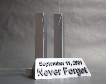 Word Trade Center September 11, 2001 Tribute, Memorial, 9/11 Terror Attacks Original Artwork