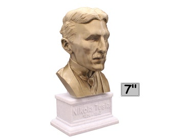 Nikola Tesla Famous Inventor, Electrical Engineer, and Futurist 7 inch Bust