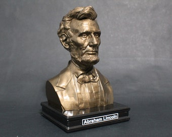 Abraham Lincoln 8 inch Premium Bust Solid Hand Finished Original Dated Sculpture