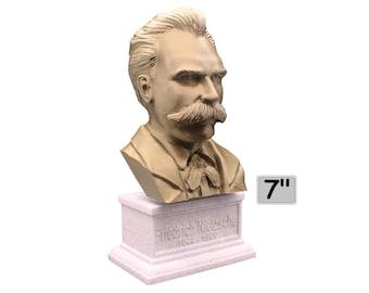 Friedrich Nietzsche German Philosopher, Cultural Critic, Composer, and Poet 7 inch Bust