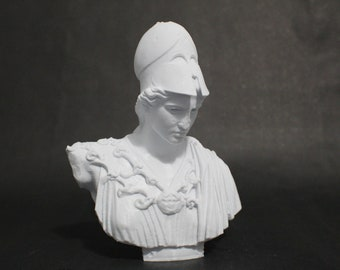 """Athena of Velletri Bust 7.5"""" 3D Printed Statue Replica"""