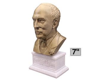 Pierre Trudeau (PET) 15th Canadian Prime Minister 7 inch Bust