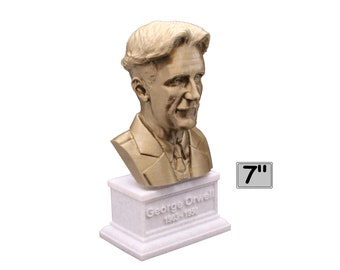 George Orwell Famous English Novelist 7 inch Bust