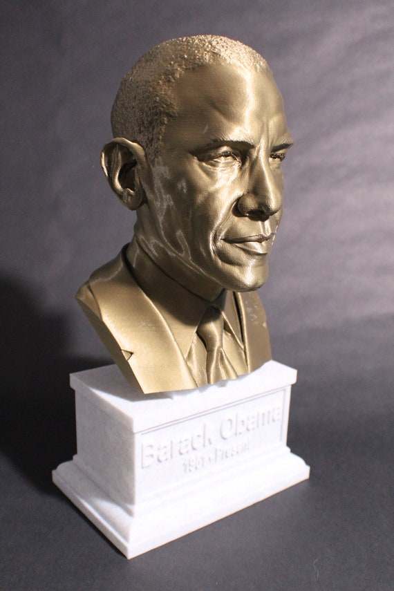 3D Printed Full Color President Barack Obama Bust Statue President Collectible