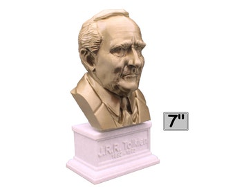 J.R.R. Tolkien Famous English Writer 7 inch Bust