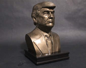 Donald J. Trump 8 inch Premium Bust Solid Hand Finished Original Dated Sculpture