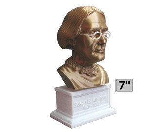 Susan B. Anthony American Social Reformer and Women's Rights Activist 7 inch Bust