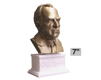 Otto Hahn, German Chemist, Nobel Prize Winner, and Researcher of Radioactivity 7 inch Bust