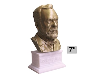 Louis Pasteur French Biologist, Microbiologist, and Chemist 7 inch Bust