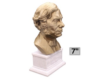 Michael Faraday Famous British Electromagnetic and Electrochemical Scientist 7 inch Bust