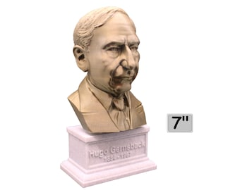 Hugo Gernsback Famous American Writer, Inventor, and Editor 7 inch Bust