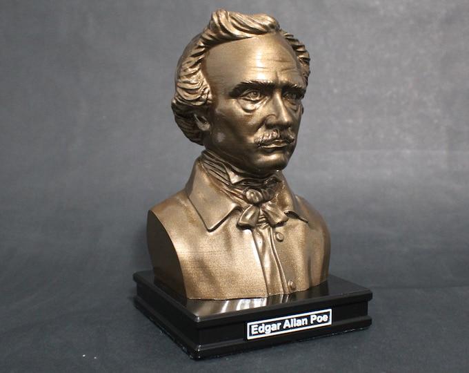 Featured listing image: Edgar Allan Poe 8 inch Premium Bust Solid Original Dated Sculpture