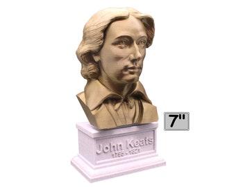 John Keats English Romantic Poet 7 inch Bust