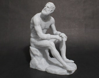 Boxer at Rest (Terme Boxer, Boxer of the Quitinal) 3D Printed Hellenistic Greek Sculpture Replica