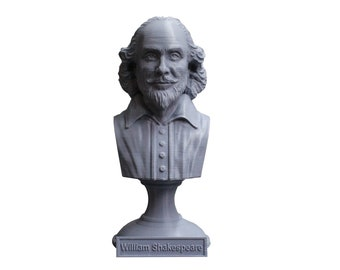 William Shakespeare, English Poet, Playwright, and Actor 5 inch Bust