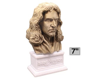Sir Isaac Newton Famous English Mathematician, Physicist and Astronomer 7 inch Bust