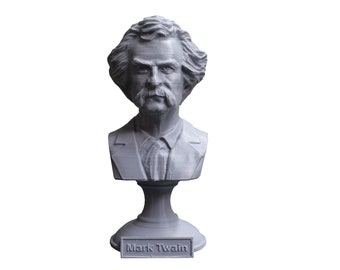 Mark Twain (AKA Samuel Clemens), American Writer, Humorist, Entrepreneur, and Lecturer 5 inch Bust