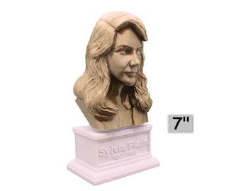 Sylvia Plath American Poet 7 inch Bust