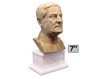John J. Pershing Legendary US Army General and General of the Armies 7 inch Bust