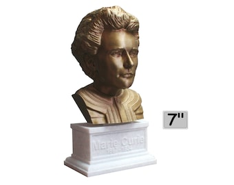 Marie Curie Polish Chemist, Nobel Prize Winner, and Researcher of Radioactivity 7 inch Bust