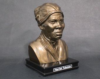 Harriet Tubman 8 inch Premium Bust Solid Hand Finished Original Dated Sculpture
