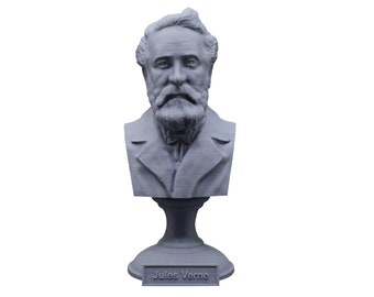 Jules Verne Famous French Novelist, Poet, and Playwright 5 inch Bust
