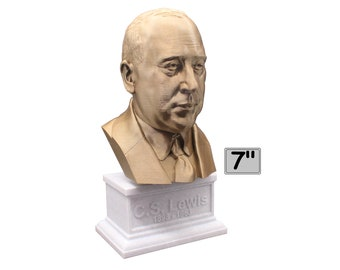 C.S. Lewis Famous British Writer 7 inch Bust