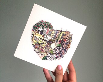 Noting Hill Love Card. London card. Portobello road.