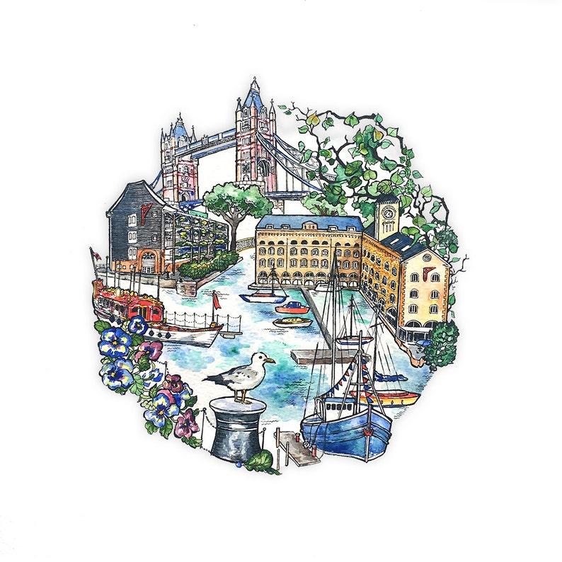 St Katharine/'s docks card London Travel London Love. Tower Bridge
