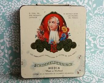 1960's Schimmelpenninck Media Metal Cigar Tin - Made in Holland - 20 Sigaren