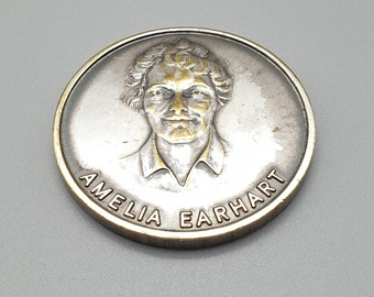 First Transatlantic Nonstop by Aviatrix 1932 Trans World Airlines Collectable Token 1960/'s Amelia Earhart TWA Celebration Coin