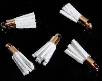 5 suedine 17 mm and gold tassels