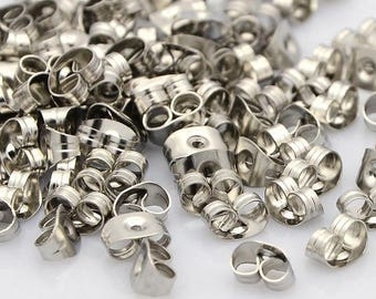 50 Stoppers earrings 5mm stainless steel