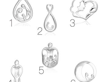 The family Collection in silvered Metal pendant