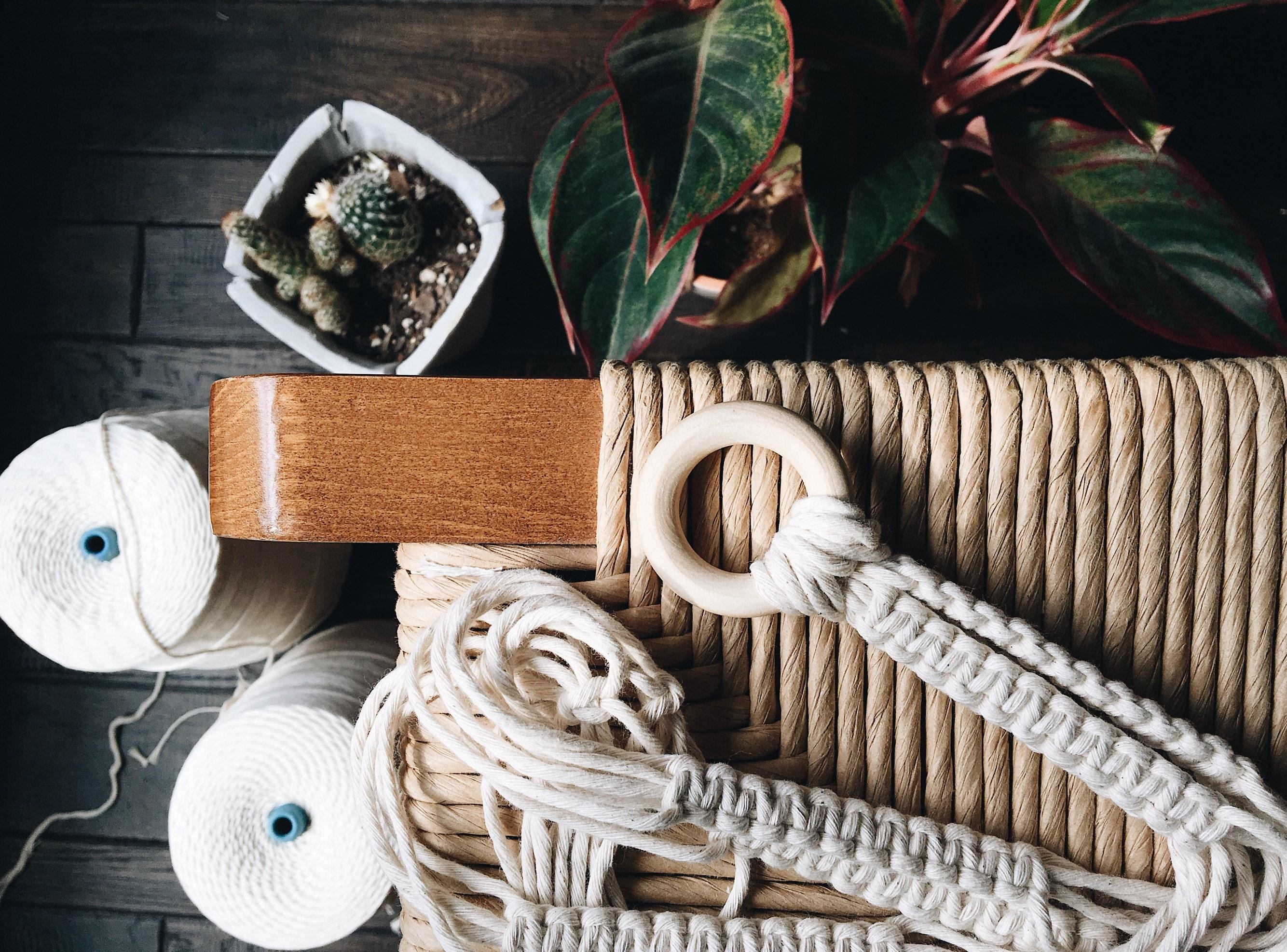 Diy Macrame Plant Hanger Kit Craft Box Boho Style