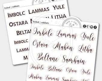 Sabbats // Foil Script