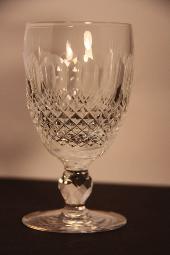 Waterford Crystal Colleen White Wine Colleen Pattern Crystal Etsy